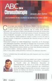 Abc De La Chromatherapie - 4ème de couverture - Format classique