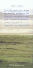 Baie De Somme - 4ème de couverture - Format classique