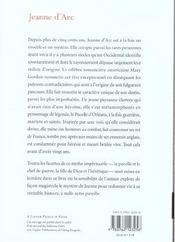 Jeanne d'arc - 4ème de couverture - Format classique