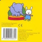 Longues Oreilles - Mon Premier Livre Des Animaux (1-3 A.) - 4ème de couverture - Format classique