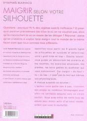 Maigrir selon votre silhouette - 4ème de couverture - Format classique