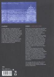 Orsay ; L'Architecture - 4ème de couverture - Format classique