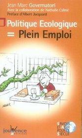 Politique ecologique = plein emploi - Intérieur - Format classique