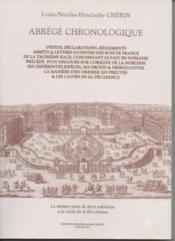 Abrege Chronologique D'Edits ... - Couverture - Format classique