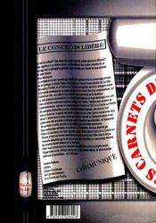 Les carnets de la détestation - 4ème de couverture - Format classique