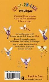 Les fées du ciel t.2 ; Alizé la fée du vent - 4ème de couverture - Format classique
