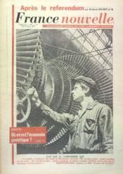 France Nouvelle N°860 du 11/04/1962 - Couverture - Format classique