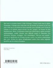 L'Echange Dans La Philosophie Contemporaine Themes Actuels Et Racines Historiques - 4ème de couverture - Format classique