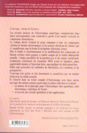 Electronique 2 Electronique Numerique Fonctionnement Et Modelisation Des Composants Fabrication - 4ème de couverture - Format classique