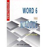 Pratiquer word 6 sous windows - Couverture - Format classique
