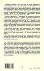 Barthelemy Boganda - Couverture - Format classique