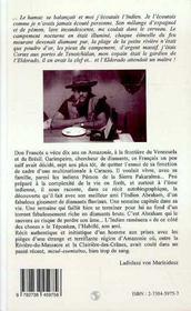 Don Frances, Recit D'Un Chasseur De Diamants - 4ème de couverture - Format classique