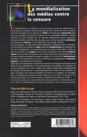 La mondialisation des médias contre la censure - 4ème de couverture - Format classique