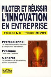 Piloter et réussir l'innovation en entreprise - Intérieur - Format classique