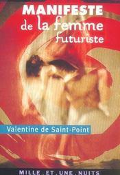 Manifeste de la femme futuriste - Intérieur - Format classique