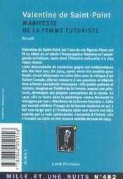 Manifeste de la femme futuriste - 4ème de couverture - Format classique