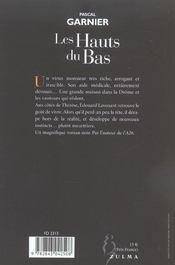 Les Hauts Du Bas - 4ème de couverture - Format classique