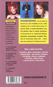 Mylene Farmer De A A Z - 4ème de couverture - Format classique