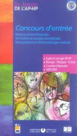 Concours D Entree Masseurs Kine 99-2003 - Intérieur - Format classique