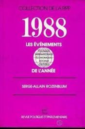 Les 1988 evenements de l'annee - Couverture - Format classique