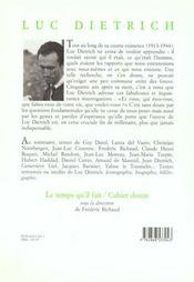 Cahier Dietrich - 4ème de couverture - Format classique