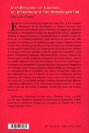 Jean-Benjamin de Laborde - 4ème de couverture - Format classique