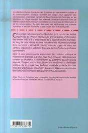 La presse en france des origines à 1944 ; histoire politique et materielle (2e édition) - 4ème de couverture - Format classique