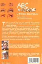 ABC de l'EMDR ; la thérapie des émotions - 4ème de couverture - Format classique