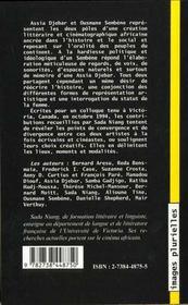 Litterature Et Cinema En Afrique Francophone - 4ème de couverture - Format classique