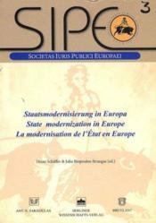 La modernisation de l'Etat en Europe - Couverture - Format classique