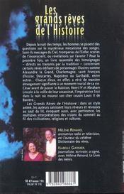 Les Grands Reves De L'Histoire - 4ème de couverture - Format classique