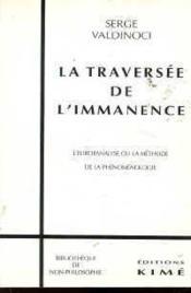 Traversee De L'Immanence (La) - Couverture - Format classique