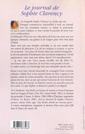 Le Journal De Sophie Clarency - Tome 1 - 1953-54 - 4ème de couverture - Format classique