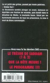 SAS t.52 ; panique au Zaïre - 4ème de couverture - Format classique
