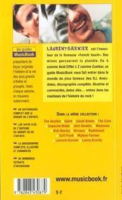 Laurent Garnier De A A A - 4ème de couverture - Format classique