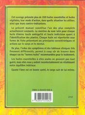 Huiles Essentielles - 4ème de couverture - Format classique
