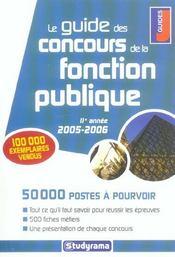 Le guide des concours de la fonction publique (édition 2005-2006) - Intérieur - Format classique