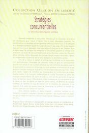 Les Strategies Concurrentielles.Le Renouveau Theorique En Pratique - 4ème de couverture - Format classique