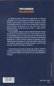 Journal D'Un Cure En Taule - 4ème de couverture - Format classique
