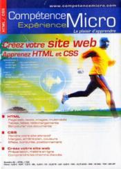 Creez votre site web ; aprenez HTML et CSS - Couverture - Format classique