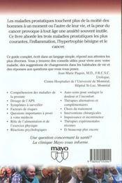 Les Maladies De La Prostate - 4ème de couverture - Format classique
