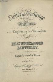 Lieder Und Gelänge F¿r Eine Singstimme Mit Begleitung Des Pianoforte. - Couverture - Format classique