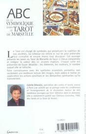 Abc de la symbolique du tarot de Marseille - 4ème de couverture - Format classique