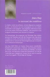 Carrousel Des Malefices (Le) - 4ème de couverture - Format classique