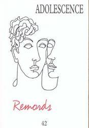 Revue Adolescence N.42 ; Remords - Intérieur - Format classique