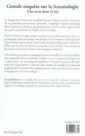 Gde enquete sur scientologie - 4ème de couverture - Format classique