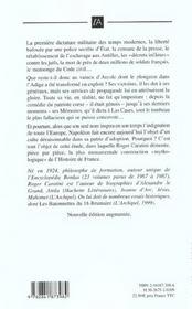Napoleon, une imposture - 4ème de couverture - Format classique