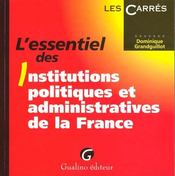 Essentiel des institutions politiques adm.france - Intérieur - Format classique