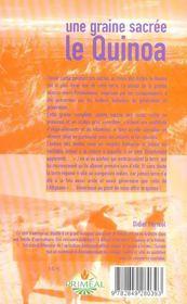 Une Graine Sacree, Le Quinoa - 4ème de couverture - Format classique