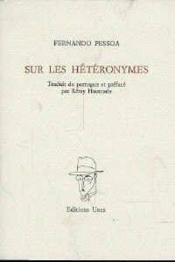 Sur Les Heteronymes - Couverture - Format classique